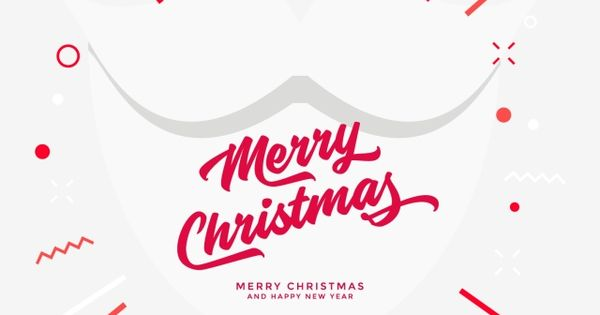 Santa White Beard Christmas Greetings Background Beard Card Png And Vector With Transparent Background For Free Download Christmas Greetings Merry Christmas And Happy New Year Holiday Icon