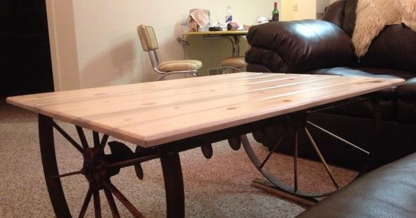 Make a end table out old farm equipment for the home for The family room kouts in