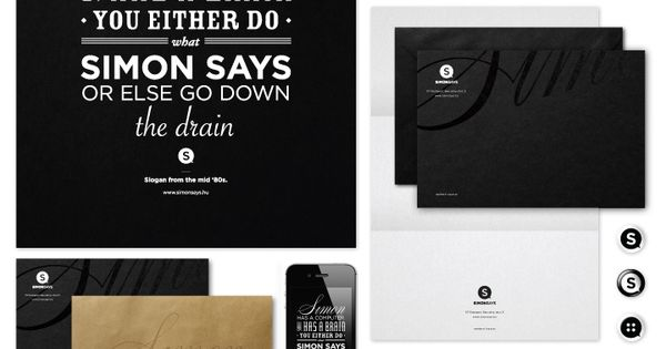 Simon Says - Corporate Identity by José Simon, via Behance simonsays typography
