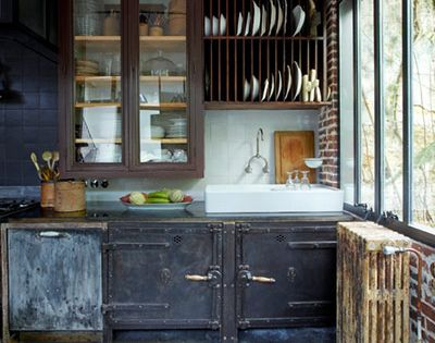 Kitchen design ideas in pictures brocante industrielle brocante et indus - La brocante industrielle ...