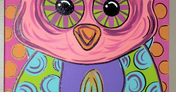 Wise Owl: PAINTED OWL CANVAS