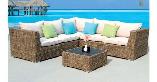 Conjunto de terraza o jard n compuesto por mesita y sof for Conjunto sofa terraza