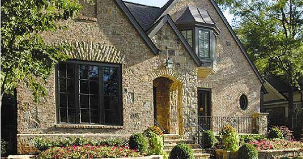 Brick Stone Exterior Detail House Exterior Cottage House Plans Tudor House