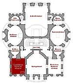 Small Plan Of The Main Floor Showing The Present Position Link To The Large Plan Linderhof Palace Castle Floor Plan Palace