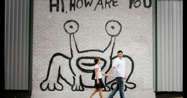 In january 2004 the infamous hi how are you frog mural for Daniel johnston mural austin