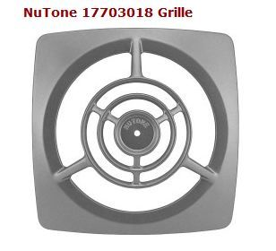 nutone chrome exhaust fan cover still