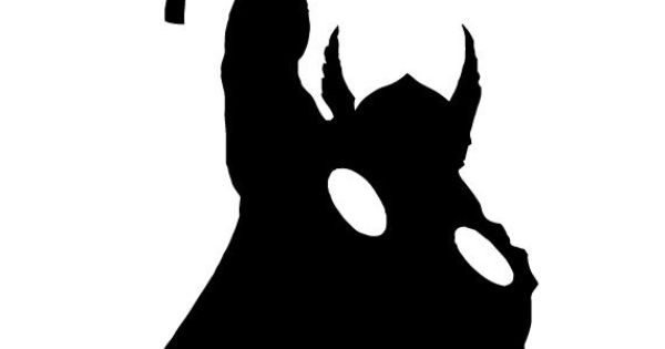 """THOR - SILHOUETTE 5"""" Vinyl Window Decal - Available in Black/White/Gold/Red/Silver - Free ..."""