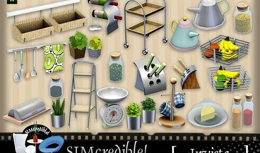 Sims 3 decor decoration objects kitchen clutter for Sims 3 kitchen designs