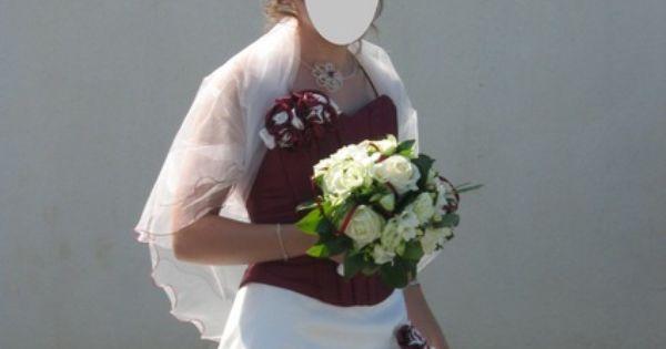 Robe de mariée. cest une jupe et un bustier. la jupe est blanc ...