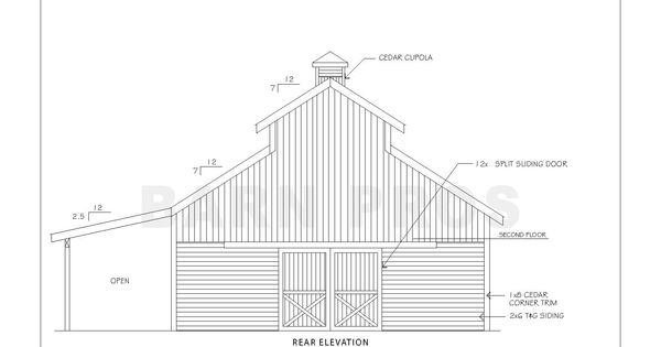The teton 24 barn pros barn and outbuildings and for Tobacco barn house plans