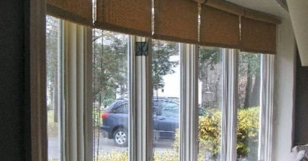 window covering ideas for a large bow window bow bay window treatments