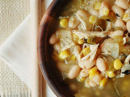 White chicken chili crockpot soup ~ mmm I love white chili