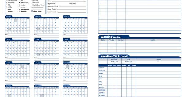 employee attendance calendar excel template - Google Search | Work ...