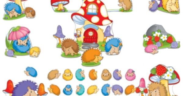 Hedgehog Classroom Decor ~ Happy hedgehogs bulletin board set cd classroom