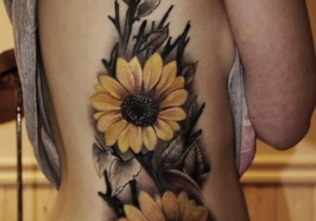 Sunflower Tattoo--definitely not this big! but its so ...