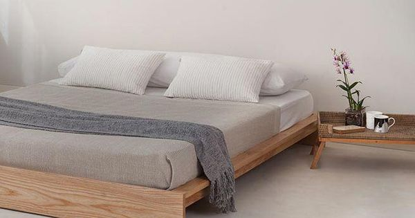 Low Ki Bed Perfect For An Attic Bedroom Handmade Beds From Natural Bed Company Loft Attic Beds Minimalbedroo Low Loft Beds Minimalist Bed Low Bed Frame
