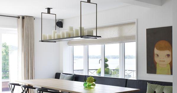 Eetkamer inspiratie een lange eetbank zorgt voor veel zitplekken via lin eetkamer inspiratie - Rustieke eetkamer decoratie ...