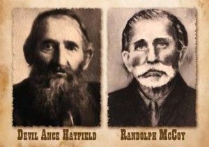 hatfield and mccoy family tree | The patriarchs of the Hatfields and McCoys  are shown above. Courtesy ... | Hatfields and mccoys, Hatfield and mccoy  feud, Hatfield