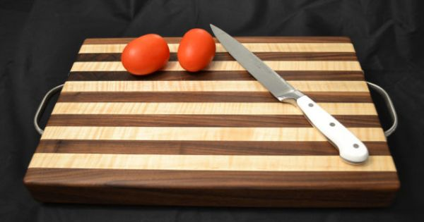 Black Walnut and Curly Maple Cutting Board by MagnoliaWoodWorks, $95 ...