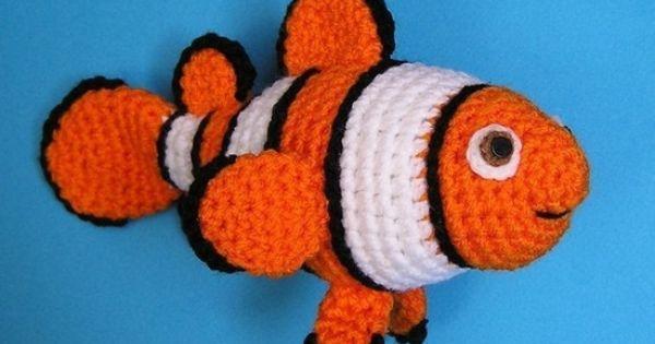 CLOWN FISH PDF Crochet Pattern-Nemo!!. stuffed animals ...