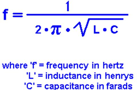 resonant frequency formula   engineeringstudents