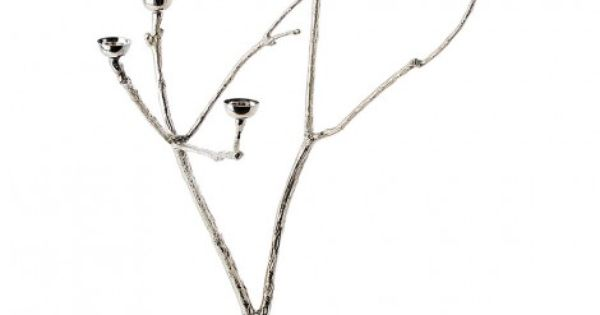 Silver Branch Style Candle Holder Twiggy Candle Holders Objects Design