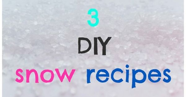 Diy snow how to make fake at home easy recipes