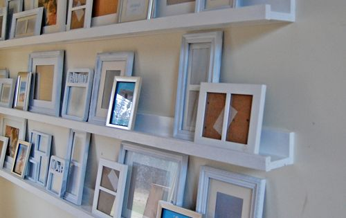 Photo Walls, Brilliant Idea for Living Room