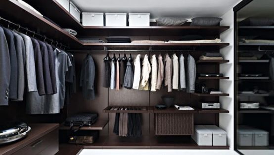 For men's suits... love the rug in the closet area.