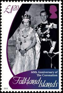 Stamp Queen Elizabeth Ii Falkland Islands 60th Anniversary Of The Coronation Mi Fk 1216 Sn Fk 1101 Sg Fk 1 Elizabeth Ii Queen Elizabeth Queen Elizabeth Ii