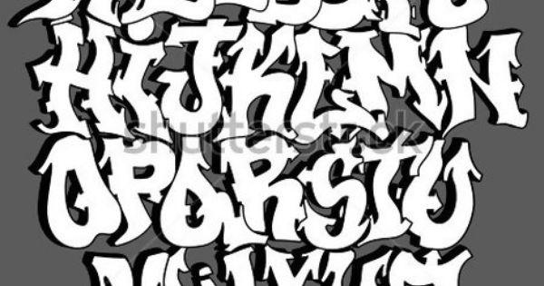 3d6avectorgraffitifontalphabetlettershiphoptype