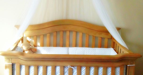 How to make a crib canopy canopies mesh and cots for Diy canopy over crib
