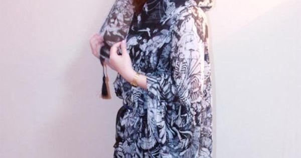 2012 Beautiful Islamic Print Ultralarge Cape Silk Muslim