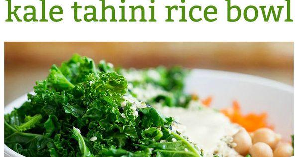 Tahini, Rice bowls and Kale on Pinterest