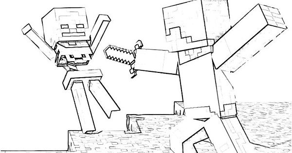 Minecraft Zombie Coloring Pages: Minecraft Zombie Coloring