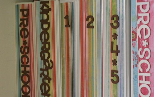 Organizing kids school work. I made binders for preschool and I need