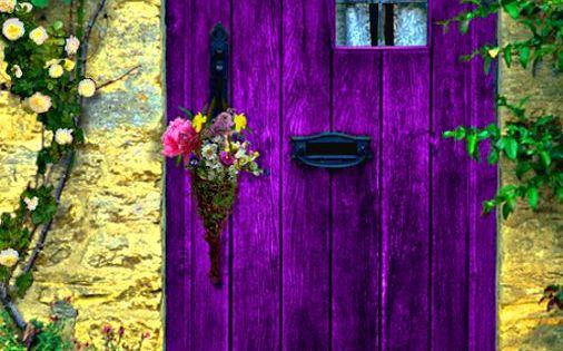 enchanted door, purple door purpledoor