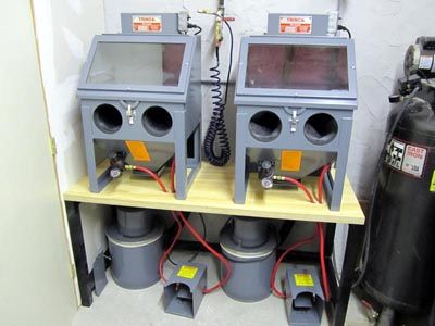 Trinco 20 Table Top Sand Blasting Cabinet Overview Pat Pruitt Sandblasting Cabinet Homemade Cabinets Homemade Tools
