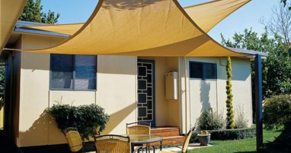 The idea of shade sails.. Liking it...