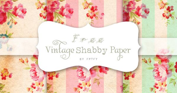 Free vintage digital scrapbooking papers by Free Pretty Things For You!, via