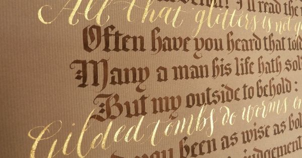 All That Glitters Calligraphy Quotation Calligraphy