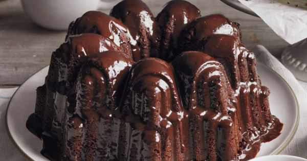LOVE CHOCOLATE? Glazed Triple Chocolate Pound Cake Recipe