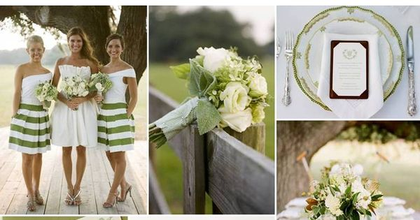 {Spring Fever}: A Fresh Palette of Green White. love the classy green