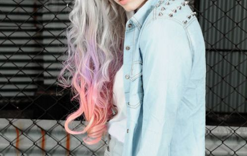#ombrehair hairstyle haircolor pastelhair