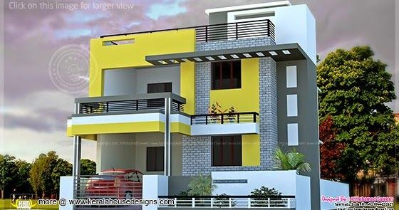 India House Plan In Modern Style House Layout Plans Modern Exterior House Designs Simple House Design Modern house plan india