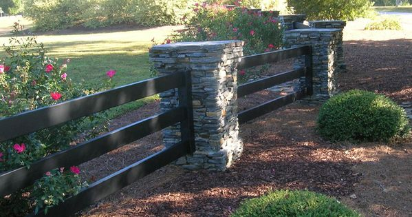 Stone And Wood Boards Fence Stock Image - Image of ...  |Stone And Wood Fence