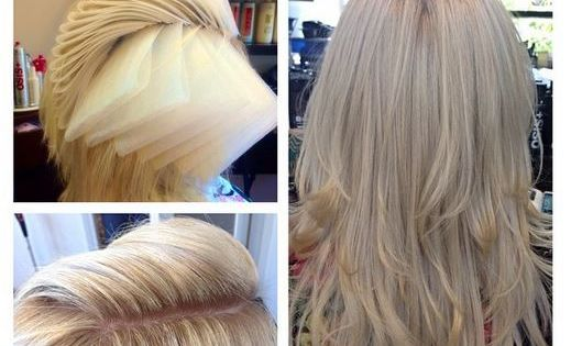The architecture of highlighting hair -- there's lots of pieces and parts