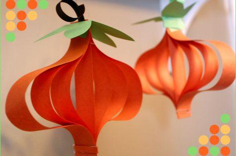 Paper pumpkin craft autumn fall diy do it yourself paper crafts autumn
