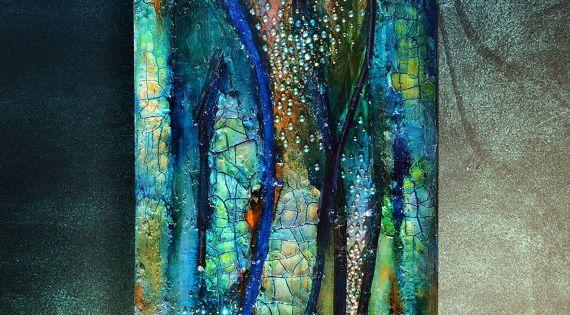 Mixta lienzo eterna primavera craquelar pintura brillo - Pintura para craquelar ...