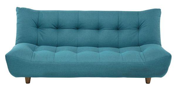 Canapé convertible 3 places en tissu bleu turquoise Cloud | Maison ...